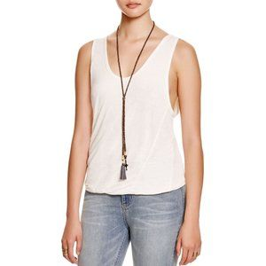 FREE PEOPLE Double Bubble Jersey Tank Ivory - XS,S